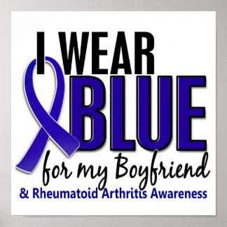 Llevo el RA azul de la artritis reumatoide del nov Posters