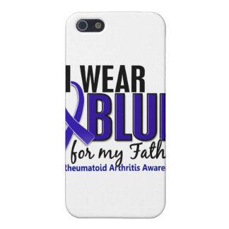 Llevo el RA azul de la artritis reumatoide del pad iPhone 5 Funda