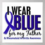 Llevo el RA azul de la artritis reumatoide del pad Posters