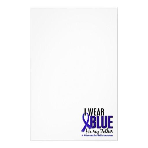 Llevo el RA azul de la artritis reumatoide del pad Papelería De Diseño