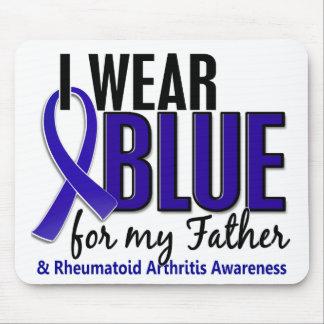Llevo el RA azul de la artritis reumatoide del pad Alfombrilla De Ratones