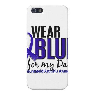 Llevo el RA azul de la artritis reumatoide del pap iPhone 5 Coberturas