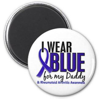 Llevo el RA azul de la artritis reumatoide del pap Imanes Para Frigoríficos