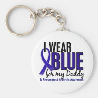 Llevo el RA azul de la artritis reumatoide del pap Llavero Redondo Tipo Pin
