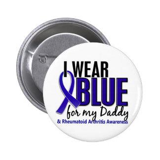 Llevo el RA azul de la artritis reumatoide del pap Pin Redondo De 2 Pulgadas