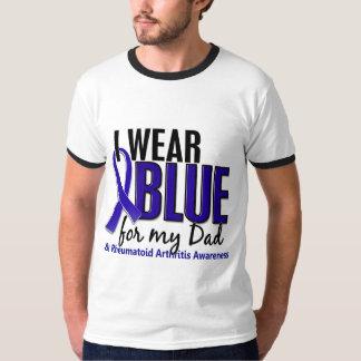 Llevo el RA azul de la artritis reumatoide del pap Playeras