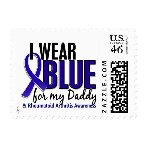 Llevo el RA azul de la artritis reumatoide del pap Sello