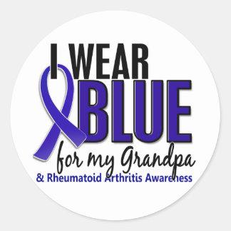 Llevo el RA azul de la artritis reumatoide del Etiqueta Redonda