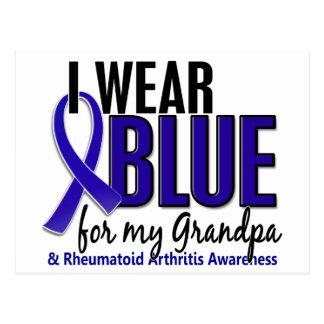 Llevo el RA azul de la artritis reumatoide del Postales