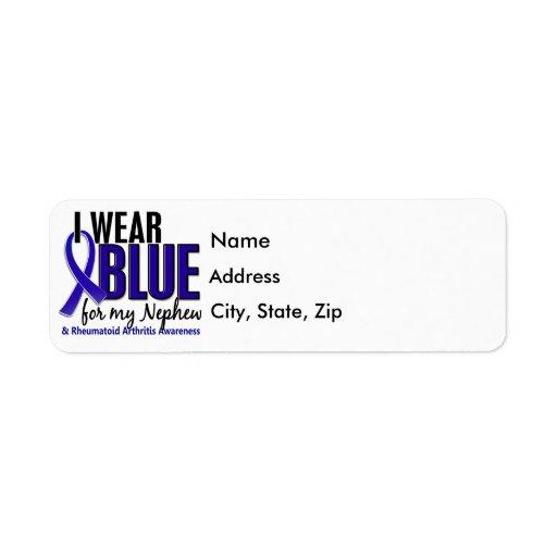 Llevo el RA azul de la artritis reumatoide del sob Etiquetas De Remite
