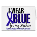 Llevo el RA azul de la artritis reumatoide del sob Tarjeton