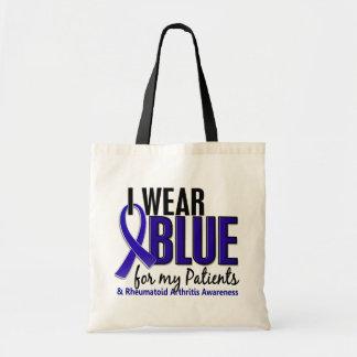 Llevo el RA azul de la artritis reumatoide Patient Bolsas Lienzo