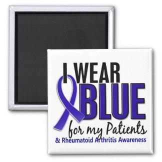 Llevo el RA azul de la artritis reumatoide Patient Imán De Frigorífico