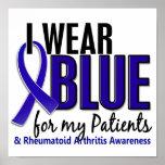 Llevo el RA azul de la artritis reumatoide Patient Impresiones