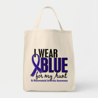 Llevo el RA azul de la tía artritis reumatoide Bolsa