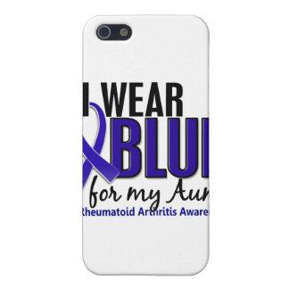 Llevo el RA azul de la tía artritis reumatoide iPhone 5 Cobertura