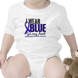 Llevo el RA azul de la tía artritis reumatoide Trajes De Bebé