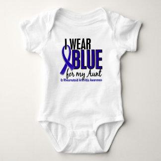 Llevo el RA azul de la tía artritis reumatoide Remera