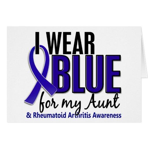 Llevo el RA azul de la tía artritis reumatoide Tarjeton