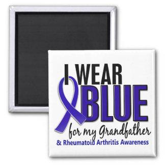 Llevo el RA de abuelo azul de la artritis reumatoi Imanes De Nevera