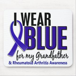 Llevo el RA de abuelo azul de la artritis reumatoi Tapete De Raton