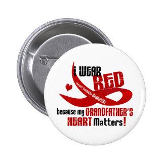 Llevo el rojo para el corazón 33 de mi abuelo pins