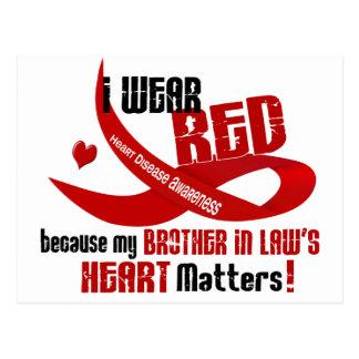 Llevo el rojo para el corazón 33 de mi cuñado postal