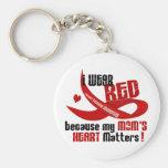 Llevo el rojo para el corazón 33 de mi mamá llavero personalizado