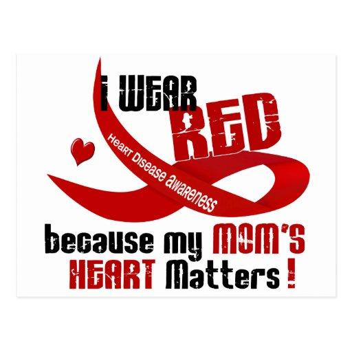 Llevo el rojo para el corazón 33 de mi mamá postal