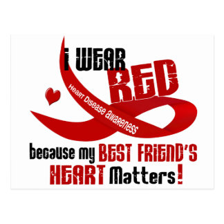 Llevo el rojo para el corazón 33 de mi mejor amigo postal