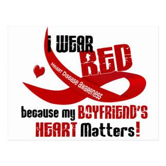 Llevo el rojo para el corazón 33 de mi novio postal