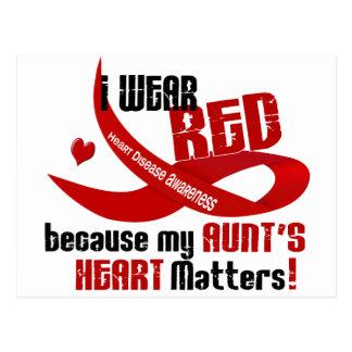 Llevo el rojo para Heart 33 de mi tía Postal