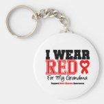 Llevo el rojo para mi abuela llaveros personalizados