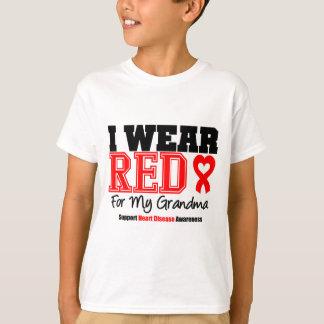 Llevo el rojo para mi abuela remera