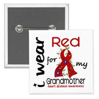 Llevo el rojo para mi enfermedad cardíaca de la ab pin