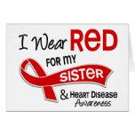Llevo el rojo para mi enfermedad cardíaca de la he felicitación