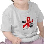 Llevo el rojo para mi enfermedad cardíaca de la camiseta