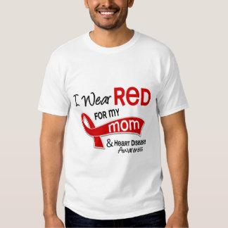 Llevo el rojo para mi enfermedad cardíaca de la remeras