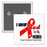Llevo el rojo para mi enfermedad cardíaca de los p pin