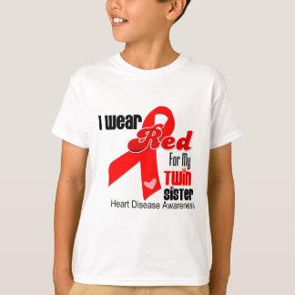 Llevo el rojo para mi enfermedad cardíaca gemela polera