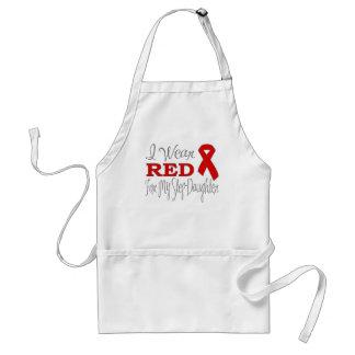 Llevo el rojo para mi hijastra (la cinta roja) delantal