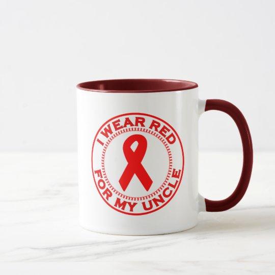 Llevo el rojo para mi tío taza