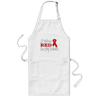 Llevo el rojo para mis pacientes (la cinta roja) delantal largo