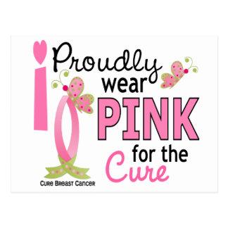 Llevo el rosa para el cáncer de pecho de la postal
