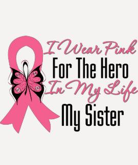 Llevo el rosa para el héroe en mi vida… mi hermana poleras