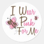Llevo el rosa para MÍ 22 camisetas del CÁNCER de P Etiqueta Redonda