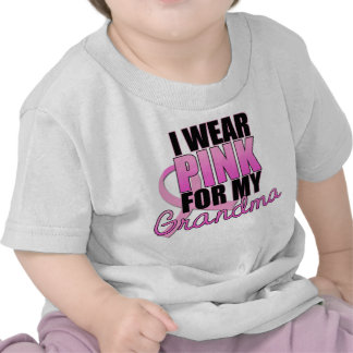 Llevo el rosa para mi abuela - cáncer de pecho camiseta
