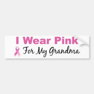 Llevo el rosa para mi abuela pegatina para auto