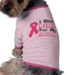 Llevo el rosa para mi abuela (versión B) Camisetas De Perrito