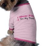 Llevo el rosa para mi amigo ropa de perros